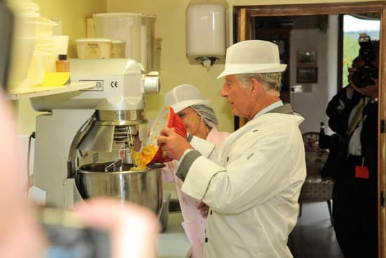 HRH The Prince Of Wales Visits While Baking