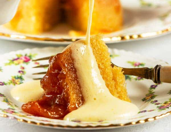 Steamed Apricot and Almond Pudding