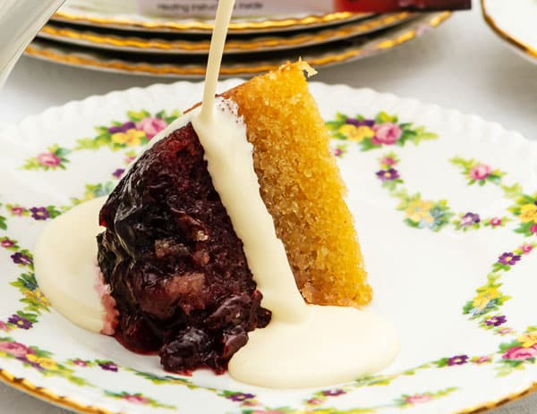 Cherry and Almond Pudding