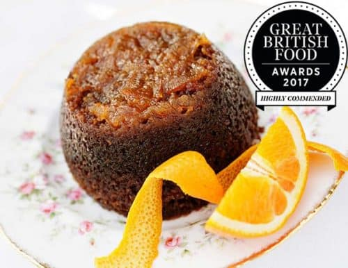 Steamed Marmalade Sponge Pudding with Orange Liqueur